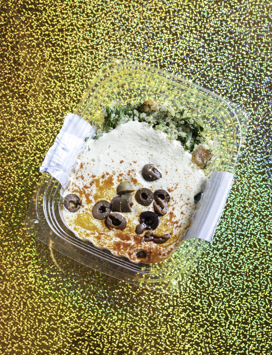 JuiceLand Mid East Feast award-winning hummus, quinoa tabouli (gluten-free)